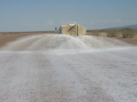 Control de polvo en carretera